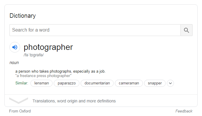 photographer-dictionary-meaning