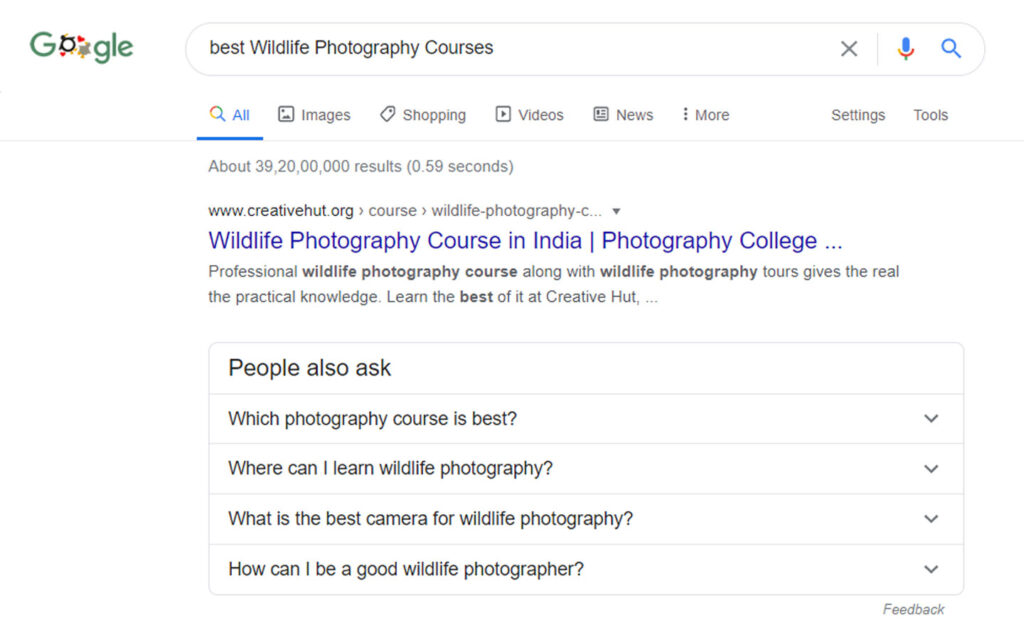 which is best wildlife photography courses