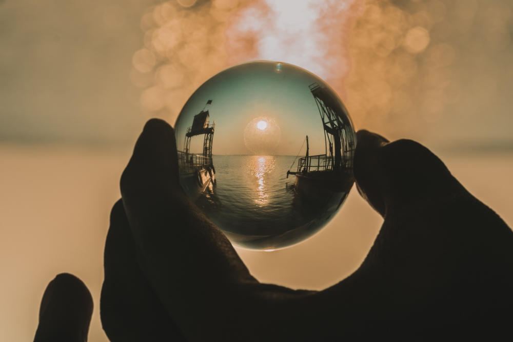 lensball sunset photography ajaykumar